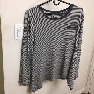 Large Anne Klein Long Sleeve Striped Shirt